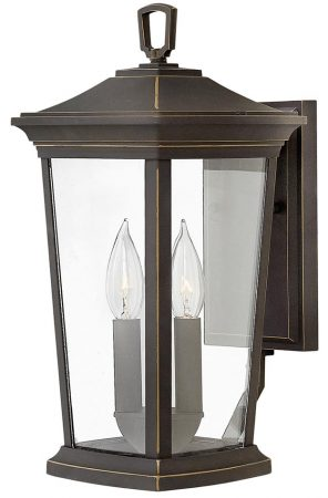 Hinkley Bromley 2 Light Medium Outdoor Wall Lantern Oil Rubbed Bronze