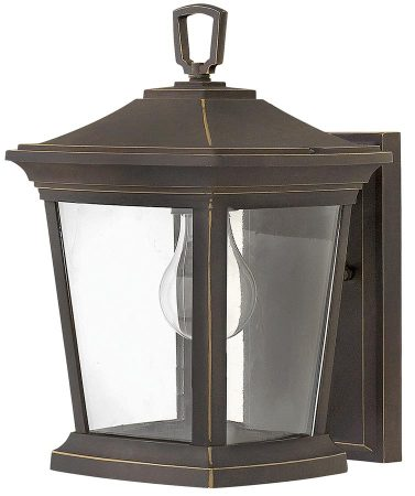 Hinkley Bromley 1 Light Small Outdoor Wall Lantern Oil Rubbed Bronze