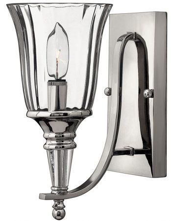 Hinkley Chandon Designer Single Wall Light Sterling Silver