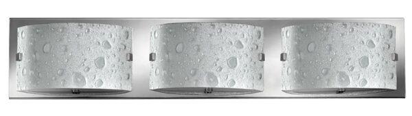 Hinkley Daphne 3 Light Bubble Art Glass Bathroom Wall Light Chrome