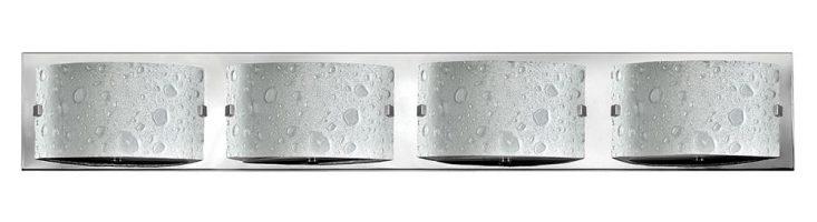 Hinkley Daphne 4 Light Bubble Art Glass Bathroom Wall Light Chrome