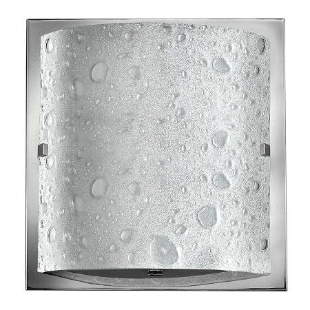 Hinkley Daphne Single Bubble Art Glass Bathroom Wall Light Chrome