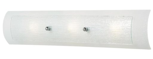 Hinkley Duet Curved Glass 3 Light Bathroom Wall Light IP44