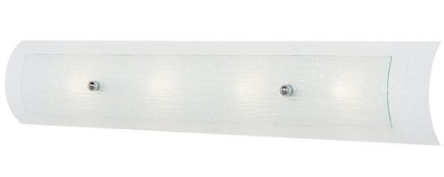 Hinkley Duet Curved Glass 4 Light Large Bathroom Wall Light IP44