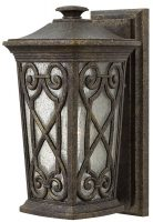 Hinkley Enzo Small Outdoor Wall Lantern Autumn Seeded Glass