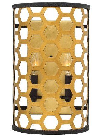 Hinkley Felix 2 Lamp Large Flush Wall Light Sunset Gold