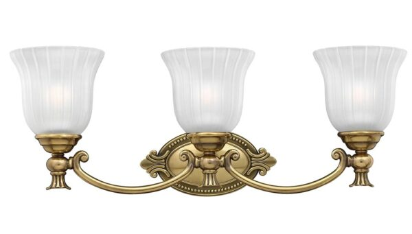 Hinkley Francoise 3 Light Bathroom Mirror Light Burnished Solid Brass