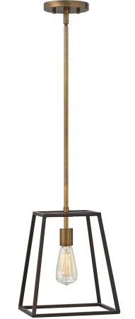 Hinkley Fulton 1 Light Industrial Pendant Two Tone Bronze