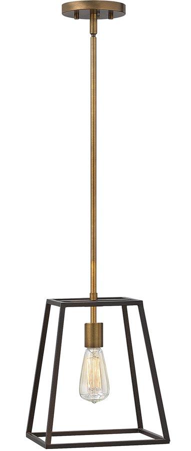 Hinkley Fulton 1 Light Industrial Pendant Two Tone Bronze