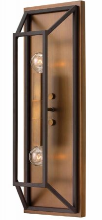 Hinkley Fulton 2 Light Wall Light Industrial Two Tone Bronze