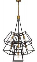 Hinkley Fulton 7 Light Chandelier Pendant Industrial Bronze