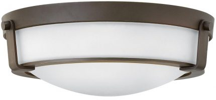 Hinkley Hathaway 3 Light Flush Mount Ceiling Light Olde Bronze