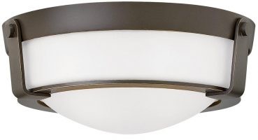 Hinkley Hathaway Small 2 Light Flush Mount Ceiling Light Olde Bronze