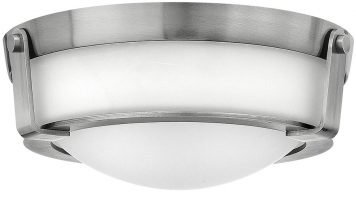 Hinkley Hathaway Small 2 Light Flush Mount Ceiling Light Antique Nickel