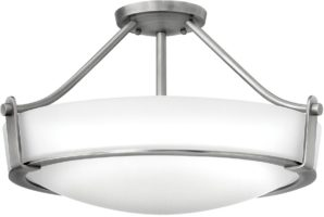 Hinkley Hathaway 4 Light Semi Flush Mount Ceiling Light Antique Nickel