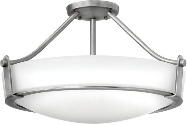 Hinkley Hathaway 4 Light Semi Flush Mount Ceiling Light Antique Nickel