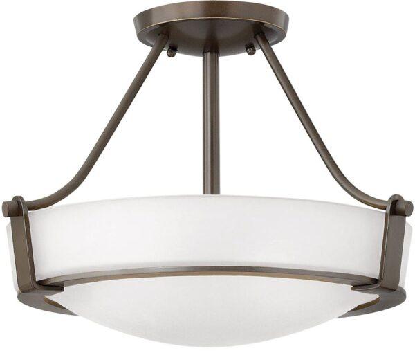 Hinkley Hathaway 2 Light Semi Flush Mount Ceiling Light Olde Bronze