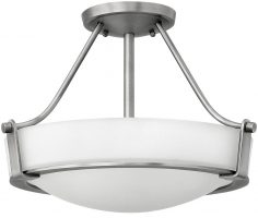 Hinkley Hathaway 2 Light Semi Flush Mount Ceiling Light Antique Nickel