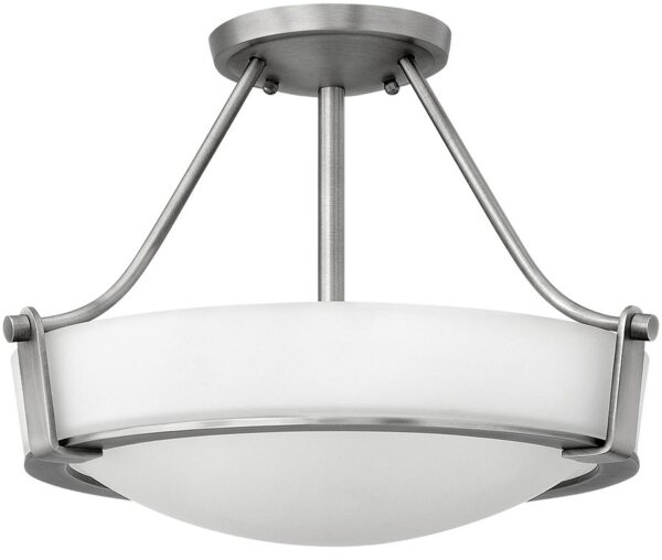 Hinkley Hathaway 2 Light Semi Flush Mount Ceiling Light Antique Nickel