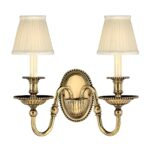 Hinkley Cambridge Traditional Twin Wall Light Solid Burnished Brass