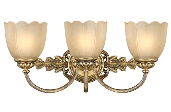 Hinkley Isabella 3 Arm Bathroom Above Mirror Light Burnished Solid Brass