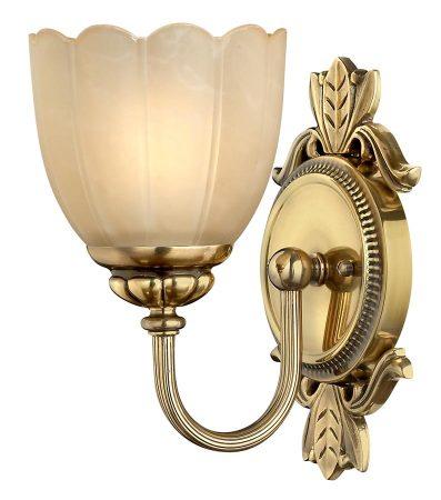Hinkley Isabella Single Bathroom Wall Light Burnished Solid Brass