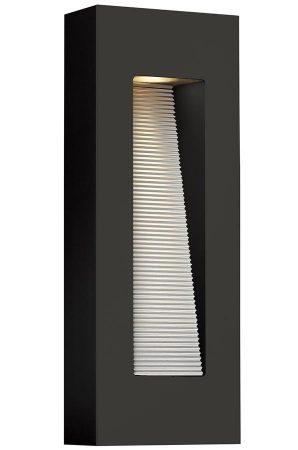 Hinkley Luna 2 Light Medium Outdoor Wall Down Light Satin Black IP44