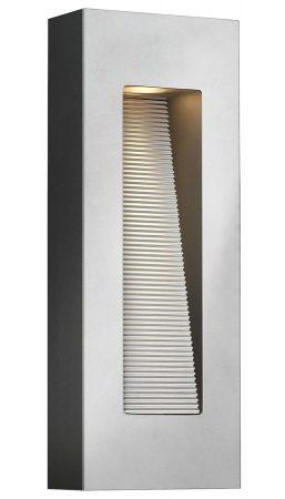 Hinkley Luna 2 Light Medium Outdoor Wall Down Light Titanium IP44