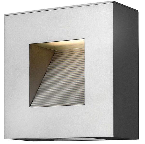 Hinkley Luna 2 Light Small Outdoor Wall Down Light Titanium IP44