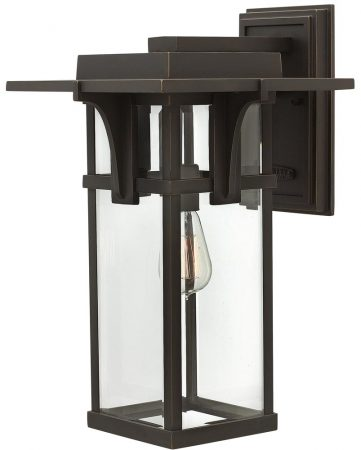 Hinkley Manhattan Large Outdoor Wall Lantern Oil Rubbed Bronze
