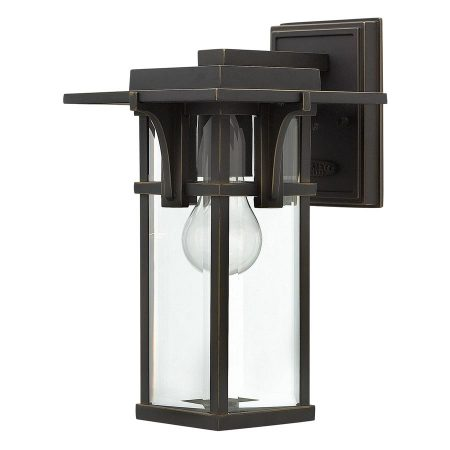 Hinkley Manhattan Small Outdoor Wall Lantern Oil Rubbed Bronze