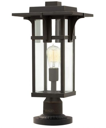 Hinkley Manhattan 1 Light Outdoor Post Top Lantern Oil Rubbed Bronze