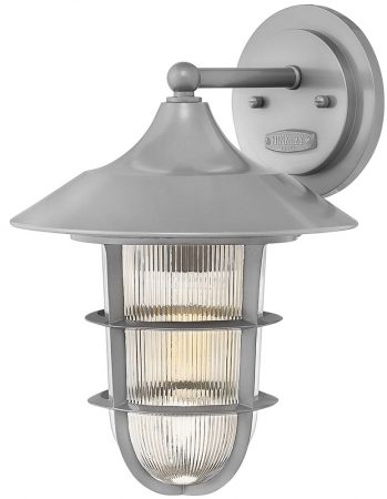 Hinkley Marina 1 Light Medium Outdoor Wall Lantern Holophane Glass