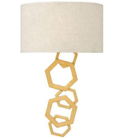 Hinkley Moxie 2 Lamp Wall Light Sunset Gold Geometric Design