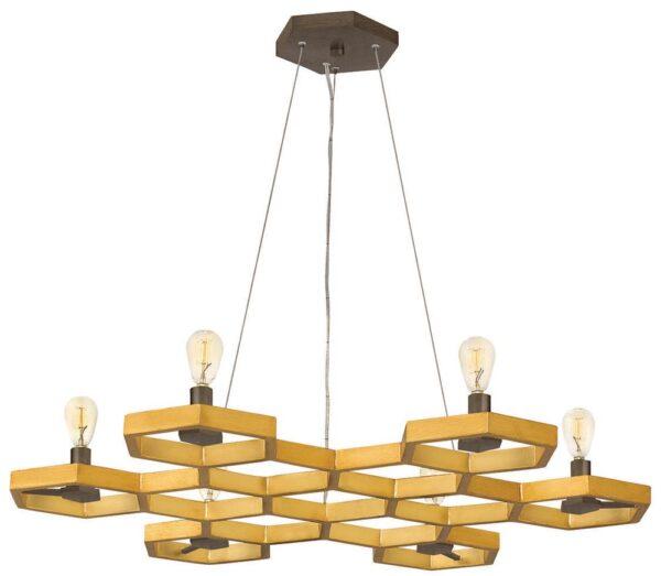Hinkley Moxie 6 Light Chandelier Sunset Gold Geometric Design