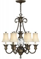 Hinkley Plantation Designer 7 Light Pineapple Chandelier Pearl Bronze
