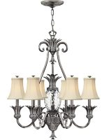 Hinkley Plantation Designer 7 Light Pineapple Chandelier Antique Nickel