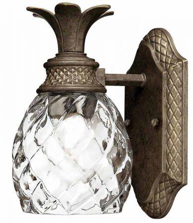 Hinkley Plantation Bathroom Wall Light Pearl Bronze Pineapple Glass