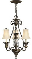 Hinkley Plantation Designer 4 Light Pineapple Chandelier Pearl Bronze