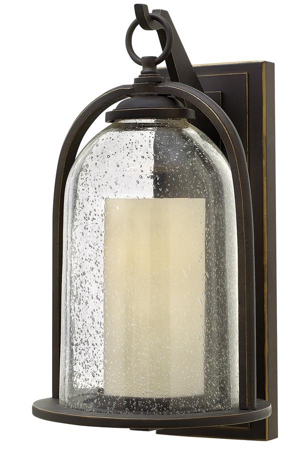 Hinkley Quincy 1 Light Medium Outdoor Wall Lantern Oil Rubbed Bronze