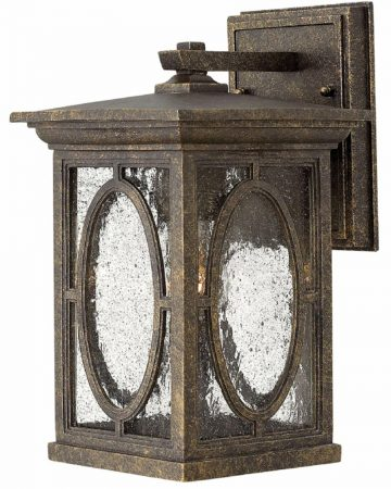 Hinkley Randolph Small Outdoor Wall Lantern Autumn With Seeded Glass
