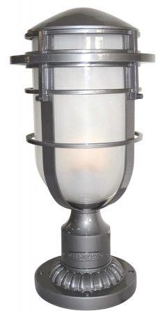 Hinkley Reef Art Deco Style Outdoor Post Top Lantern Hematite