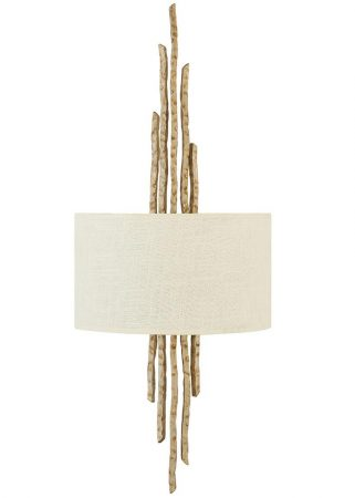 Hinkley Spyre 2 Lamp Wall Light Champagne Gold