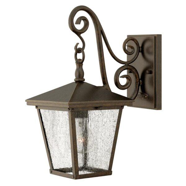 Hinkley Trellis 1 Light Small Outdoor Wall Lantern Regency Bronze