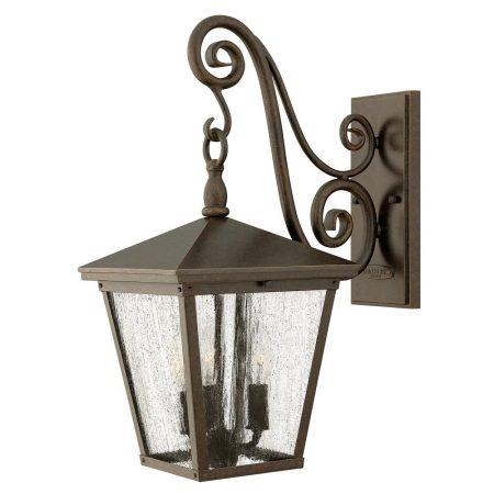 Hinkley Trellis 3 Light Medium Outdoor Wall Lantern Regency Bronze