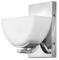 Hinkley Verve Single Bathroom Wall Light Polished Chrome Opal Glass