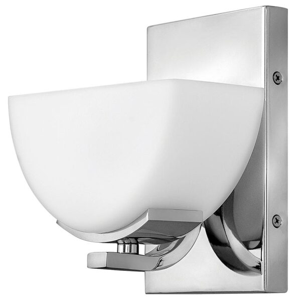 Hinkley Verve Single Bathroom Wall Light Polished Chrome Opal Glass