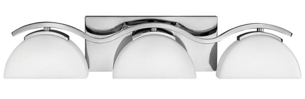 Hinkley Verve 3 Light Bathroom Wall Light Polished Chrome Opal Glass
