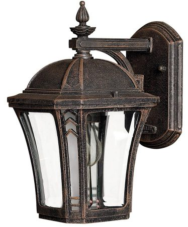 Hinkley Wabash 1 Light Small Outdoor Wall Lantern Mocha IP44
