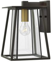 Hinkley Walker 1 Light Medium Outdoor Wall Lantern Buckeye Bronze IP44
